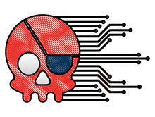 Cyber Security Skull Piracy Cr...