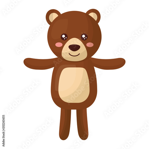 Cuadros en Lienzo cute teddy bear childish isolated icon vector illustration design