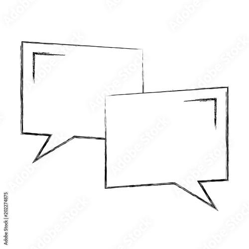 Speech Bubbles Conversation Idea Template Vector Illustration Outline