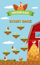 Farm Chicken Racing Game Templ...