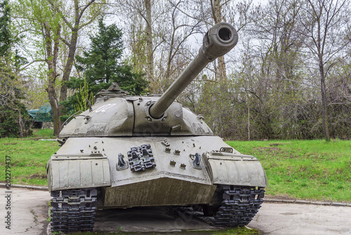 Leinwand Poster Heavy tank is-3, during the second world war, was in service of the Soviet troop