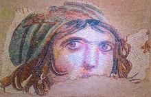 Gypsy Girl, A Byzantine Mosaic...
