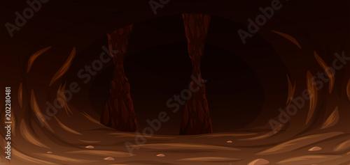Tableau sur Toile A Dark Scary Rock Cave