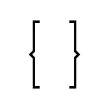 Bracket Icon Vector