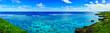 canvas print picture 真夏の宮古島。イムギャーマリンガーデンからみる珊瑚礁の海(パノラマ)