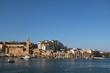 Bay of Marsaskala at the Mediterranean Sea, Malta