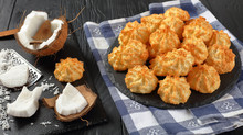 Coconut Macaroons Cookies On A Plate