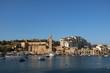 View to Church in Marsaskala at the Mediterranean Sea, Malta