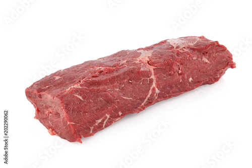 big piece of beef fillet on a white background Canvas Print