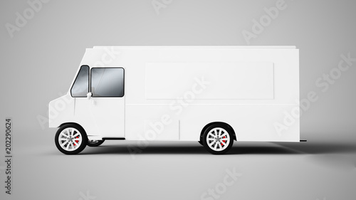 3d rendering of a food truck