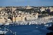 View from Valletta to Vittoriosa Il-Birgu in Malta