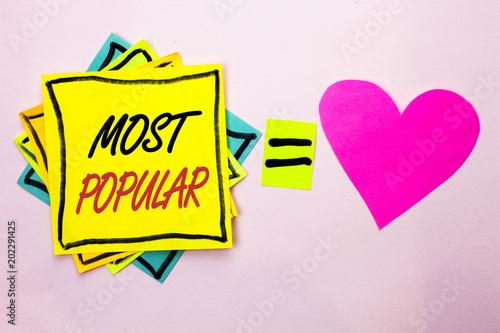 Fotografie, Obraz  Text sign showing Most Popular