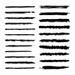 Set of pen brush, marker vector strokes. Template for brush. Straig lines