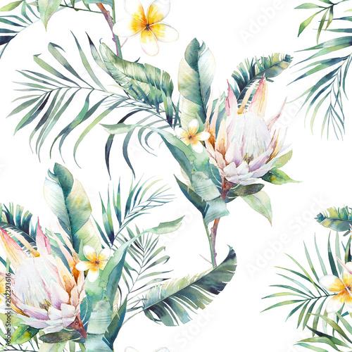 akwarela-egzotyczny-wzor-powtarzajaca-sie-tekstura-z-roslinami-tropikalny-bukiet-galezie-palmowe