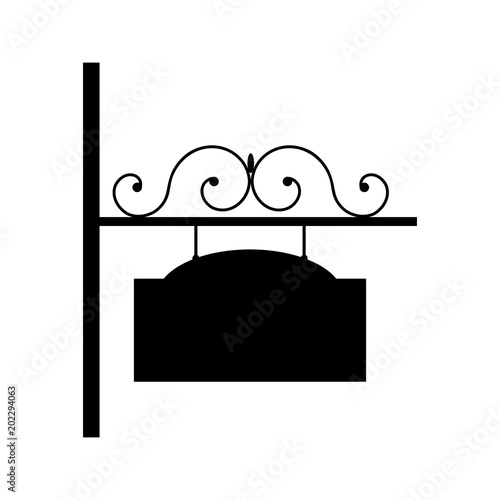 Photo Vector wrought iron sign.