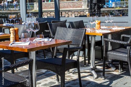 Papel de parede terrasse de restaurant
