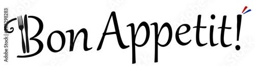 Plakaty do jadalni bon-appetit-vektor-logo