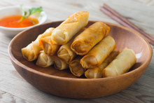 Deep Fried Spring Rolls , Popia
