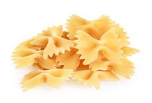 Farfalle Pasta Isolated On Whi...