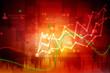 canvas print picture - 2d rendering Stock market online business concept. business Graph