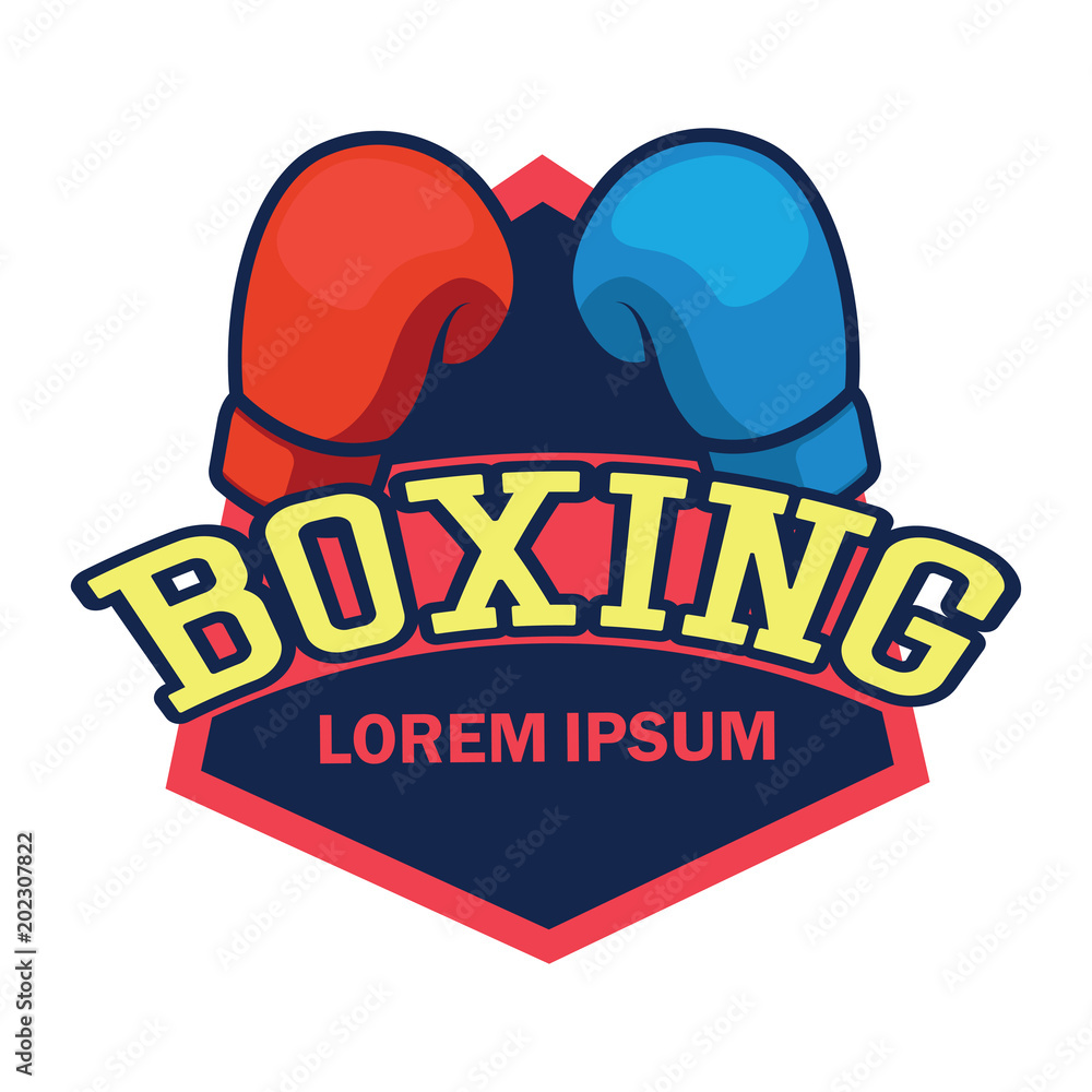 Photo art print boxing logo with text space for your slogan tag line vector illustration europosters