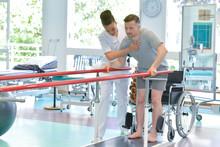 Man On Leg Rehabilitation