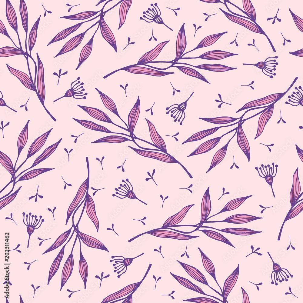 Fioletowy wzór roślinny <span>plik: #202311462   autor: Mazikeen</span>