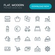 Modern Simple Set of hotel, shopping, travel Vector outline Icons. Contains such Icons as service, post, shop, sale, summer, game, old and more on white background. Fully Editable. Pixel Perfect