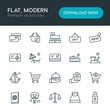 Modern Simple Set of hotel, shopping, travel Vector outline Icons. Contains such Icons as gift, paragliding, cashier, open, care, home and more on white background. Fully Editable. Pixel Perfect
