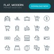 Modern Simple Set of hotel, shopping, travel Vector outline Icons. Contains such Icons as ticket, ball, pool, travel, dice, marketplace and more on white background. Fully Editable. Pixel Perfect