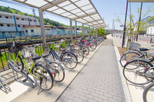 Tokyo,Japan-April 25,2018:Public Bicycle Parking.