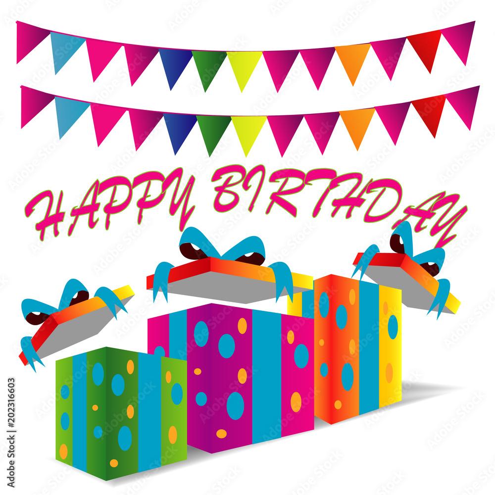Happy Birthday Design For Greeting Card Invitation Foto Poster Wandbilder Bei EuroPosters