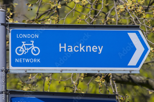 Fototapeta Hackney Sign in London