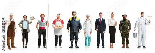 Montage about different professions
