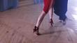 Legs of a pair of dancing latin dance