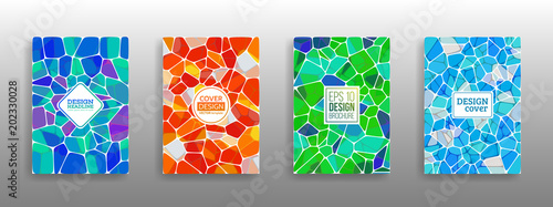 Photo Vector Illustration of abstract vitrage background