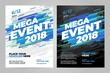 Vector layout design template for mega event sport event.