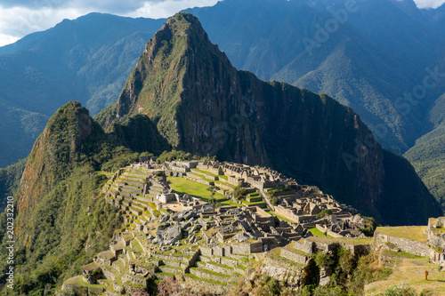 Photo Stands South America Country Machu Picchu, the lost city of inca