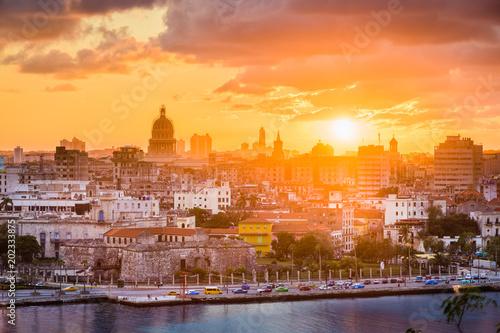 Poster Havana Havana, Cuba downtown skyline.