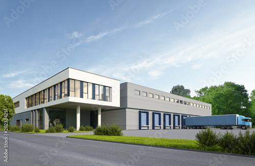Obraz Logistikgebäude - fototapety do salonu