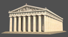 3d Render Of The Parthenon On ...