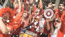 Friends Football Supporter Fan...
