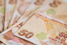 Turkish Currency - Close-up Of...