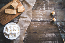 S'mores Summer Background With...