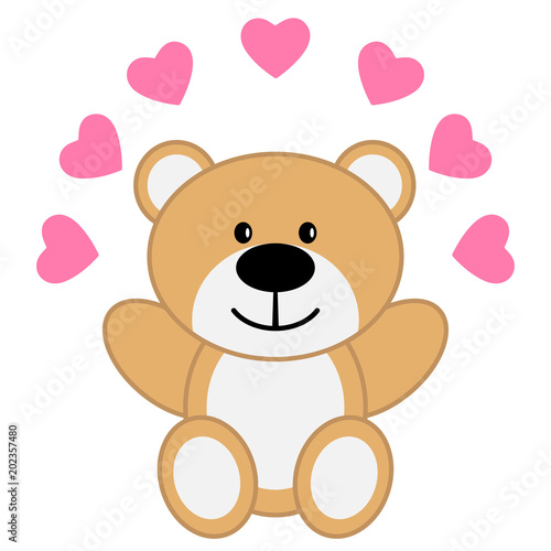 Toy bear with red hearts #202357480