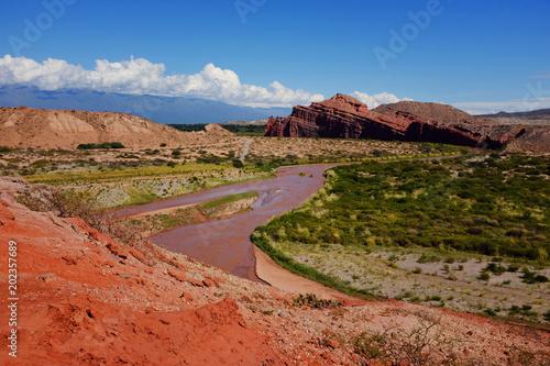 Foto op Canvas Baksteen red river