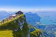 canvas print picture - Panoramablick vom Schafberg auf den Mondsee in Österreich