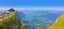 Panoramablick Vom Schafberg Auf Den Mondsee In Österreich