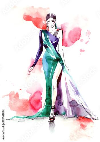 Spoed Foto op Canvas Schilderingen fashion