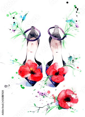 Spoed Foto op Canvas Schilderingen sandals